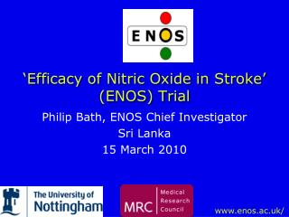 'Efficacy of Nitric Oxide in Stroke' (ENOS) Trial