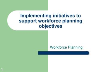 Implementing initiatives to support workforce planning objectives