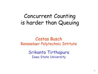 Concurrent Counting  is harder than Queuing