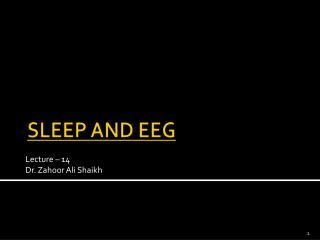 SLEEP AND EEG