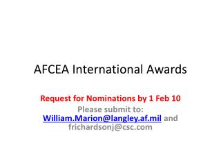 AFCEA International Awards