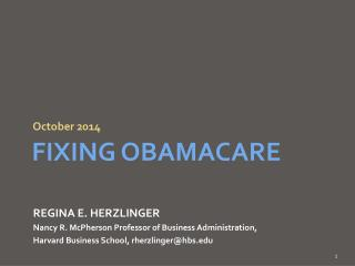 Fixing  obamacare