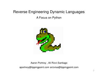 Reverse Engineering Dynamic Languages A Focus on Python
