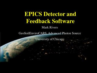 EPICS Detector and Feedback Software