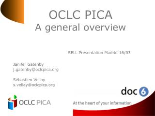 OCLC PICA A general overview