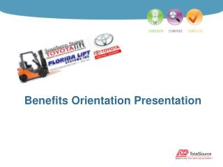 Benefits Orientation Presentation