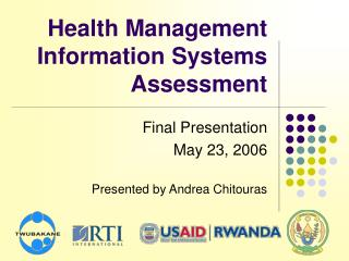 Health Management Information Systems Assessment