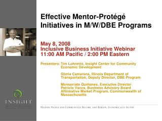 Effective Mentor-Protégé Initiatives in M/W/DBE Programs
