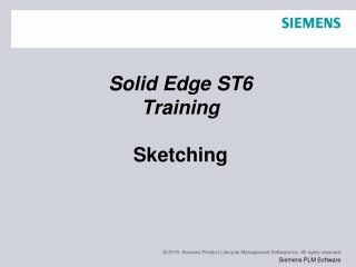 Solid Edge ST6 Training Sketching