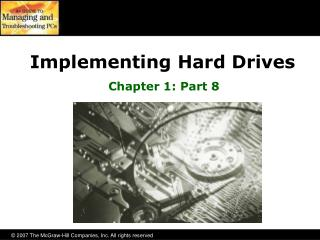 Implementing Hard Drives