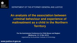 DEPARTMENT OF THE ATTORNEY-GENERAL AND JUSTICE