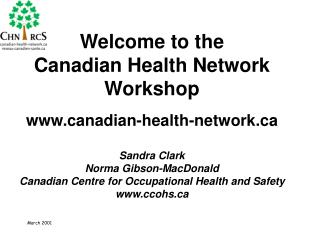 What is the                 Canadian Health Network?