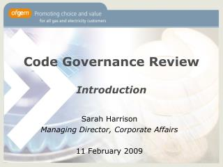 Code Governance Review  Introduction
