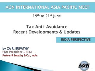 Tax Anti-Avoidance  Recent Developments & Updates