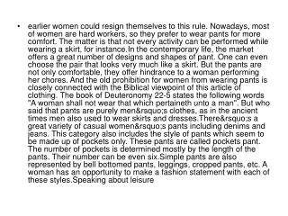 earlier women could resign themselves to this rule