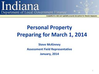 Personal Property  Preparing for March 1, 2014