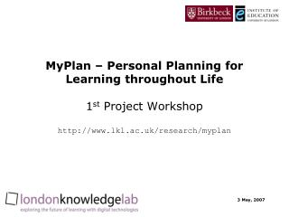 The MyPlan project
