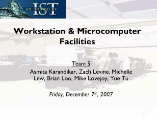 Workstation & Microcomputer Facilities