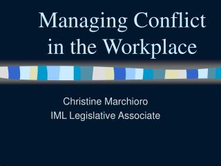 managing conflict in the work place 7 strategies for managing conflict wherever there are nurses who actually have quit their jobs rather than attempt to resolve an interpersonal conflict at work.
