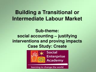 Building a Transitional or Intermediate Labour Market Sub-theme:  social accounting – justifying interventions and pro