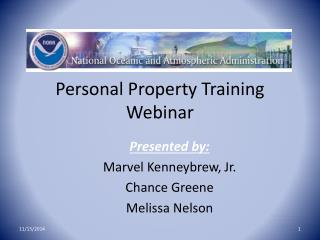 Personal Property Training Webinar