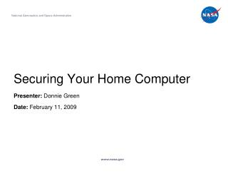 Securing Your Home Computer