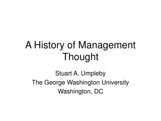 history of management About this journal management & organizational history ceased publication with sage at the end of 2012 (volume 7) though backfiles remain available here (february 2006 - november 2012.
