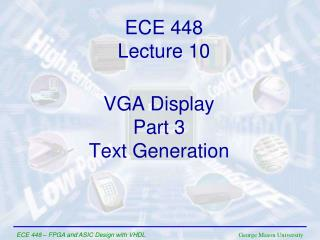 VGA Display Part 3 Text Generation
