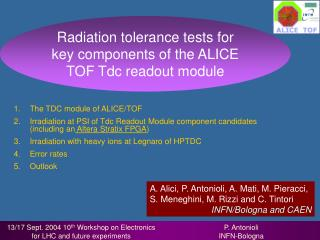 The TDC module of ALICE/TOF