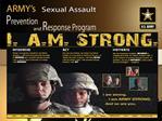 I. A.M. STRONG   Intervene, Act, Motivate