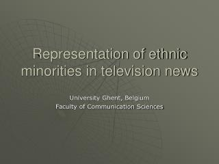 Representation of ethnic minorities in television news