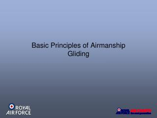Basic Principles of Airmanship Gliding
