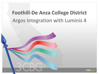 Foothill-De Anza College District Argos Integration with Luminis 4