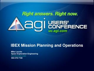 IBEX Mission Planning and Operations