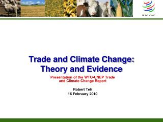 Trade and Climate Change: Theory and Evidence
