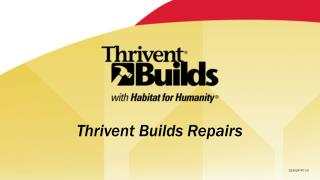 Thrivent Builds Repairs