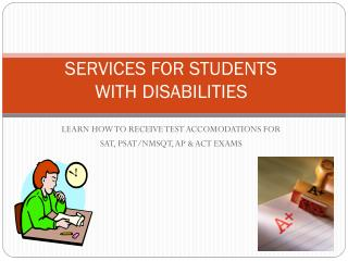 SERVICES FOR STUDENTS WITH DISABILITIES