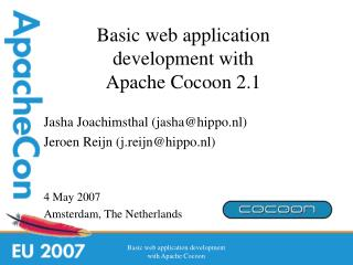 Basic web application development with  Apache Cocoon 2.1