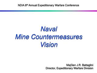 Naval  Mine Countermeasures Vision