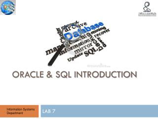 Oracle & SQL Introduction