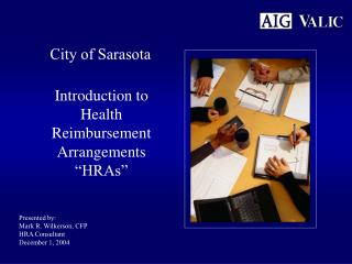 "Introduction to Health Reimbursement Arrangements ""HRAs"""