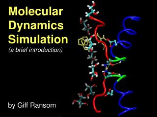Molecular  Dynamics  Simulation (a brief introduction)