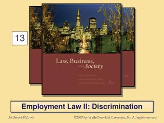 Employment Law II: Discrimination