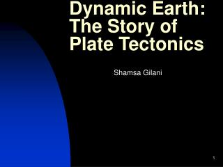Dynamic Earth: The Story of Plate Tectonics
