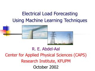 Electrical Load Forecasting  Using Machine Learning Techniques