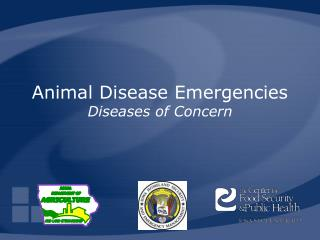 Animal Disease Emergencies Diseases of Concern