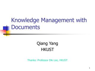 Knowledge Management with Documents