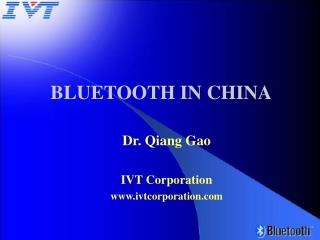 BLUETOOTH IN CHINA