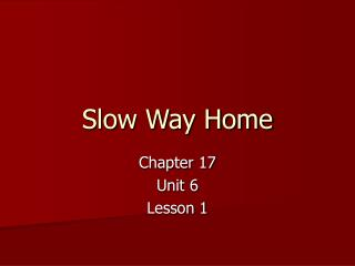 Slow Way Home