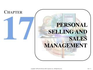 PERSONAL SELLING AND SALES MANAGEMENT